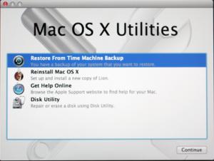 Macを以前の状態に復元する方法