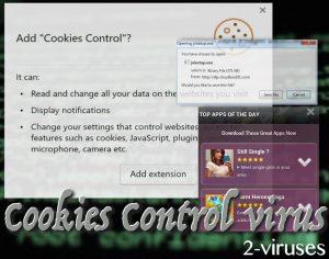 Cookies Control ウイルス