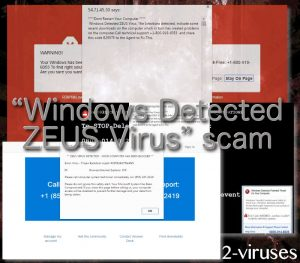 """Windows Detected ZEUS Virus"" 詐欺"