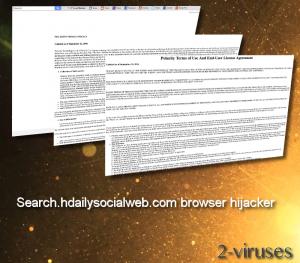 Search.hdailysocialweb.com ブラウザハイジャッカー