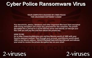 Cyber Police Ransomware ウイルス